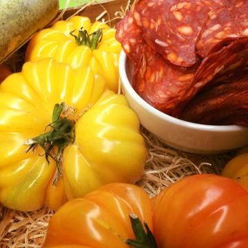 Chorizo et tomates bio