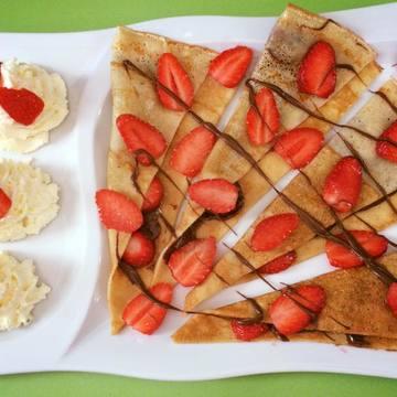 Café gourmand aux fraises